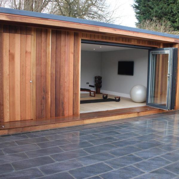 Cedar-clad garden room
